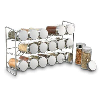 Freistehendes Gewürzregal mit 18 Gewürzdosen | Küche und Esszimmer > Küchenregale > Gewürzregale | ClearAmbient