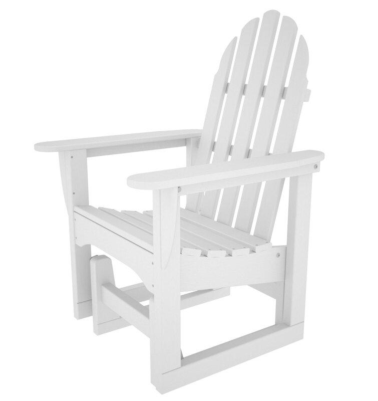 Polywood Adirondack Glider Chair Reviews Wayfair