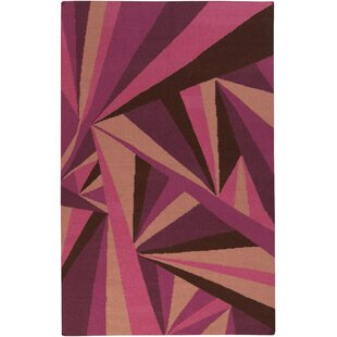 Voyages Eggplant Geometric Area Rug By Malene b