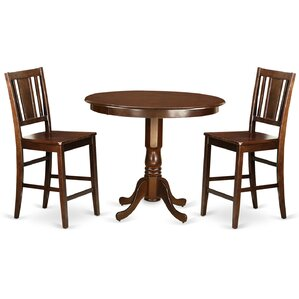 Trenton 3 Piece Counter Height Pub Table Set by Wooden Importers Best Price
