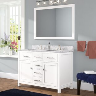 Save To Idea Board Espresso White Willa Arlo Interiors Sverre 48 Double Bathroom  Vanity Inch Vanities You Ll Love Wayfair