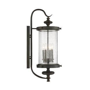 Online Reviews Blythewood 4-Light Outdoor Wall Lantern By Three Posts