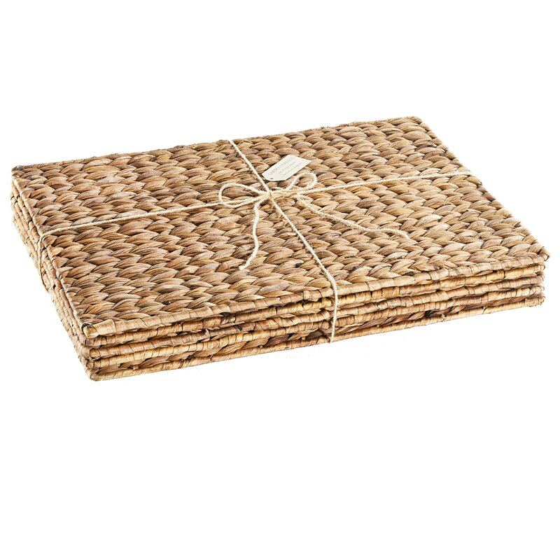 Set of 4 woven seagrass placemats