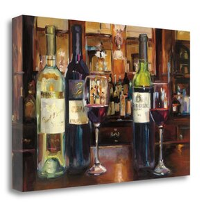 'Reflection of Wine' Graphic Art Print on Canvas by Tangletown Fine Art