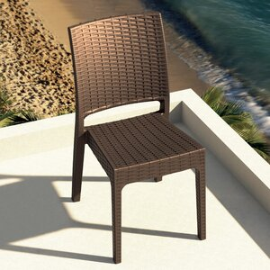Jayne Stacking Patio Dining Chair (Set of 2)