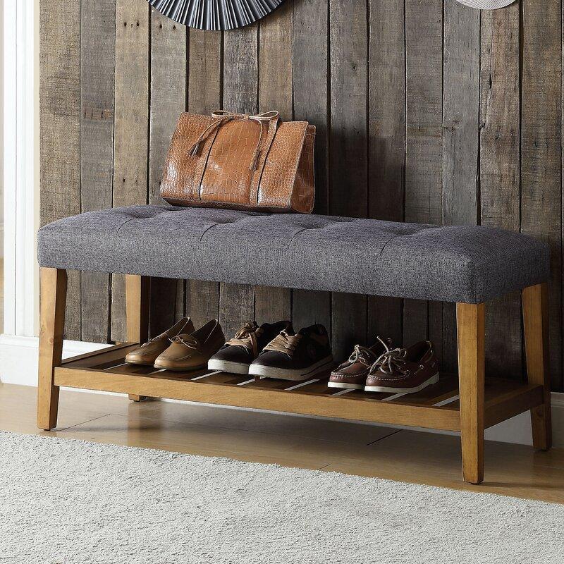 Charlton Home® Warwickshire Wood Storage Bench & Reviews | Wayfair