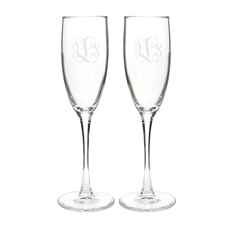 Vine Monogram Champagne Flute