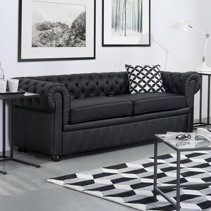 Wardingham Leather Chesterfield Sofa Darby Home Co