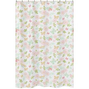 Butterfly Floral Shower Curtain BySweet Jojo Designs