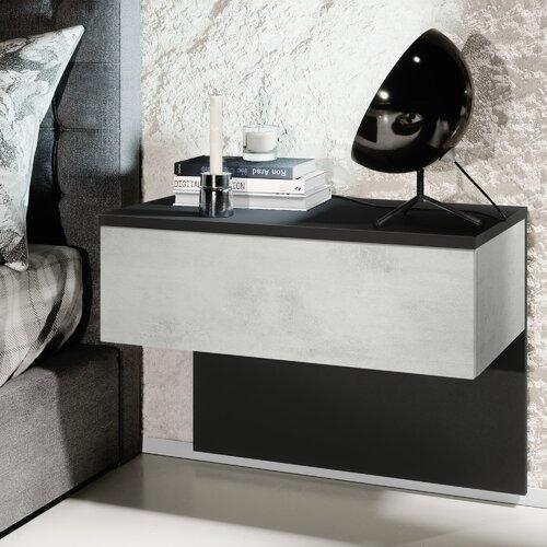 Nachttisch Sleep Vladon Farbe (Schublade): Concrete Oxide Optics| Beleuchtung: Without LED | Schlafzimmer > Nachttische | Vladon