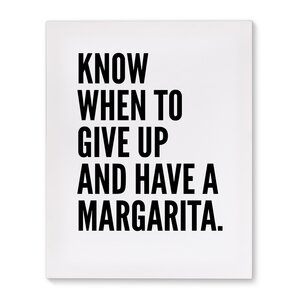 'Margarita' Textual Art on Canvas by Wrought Studio