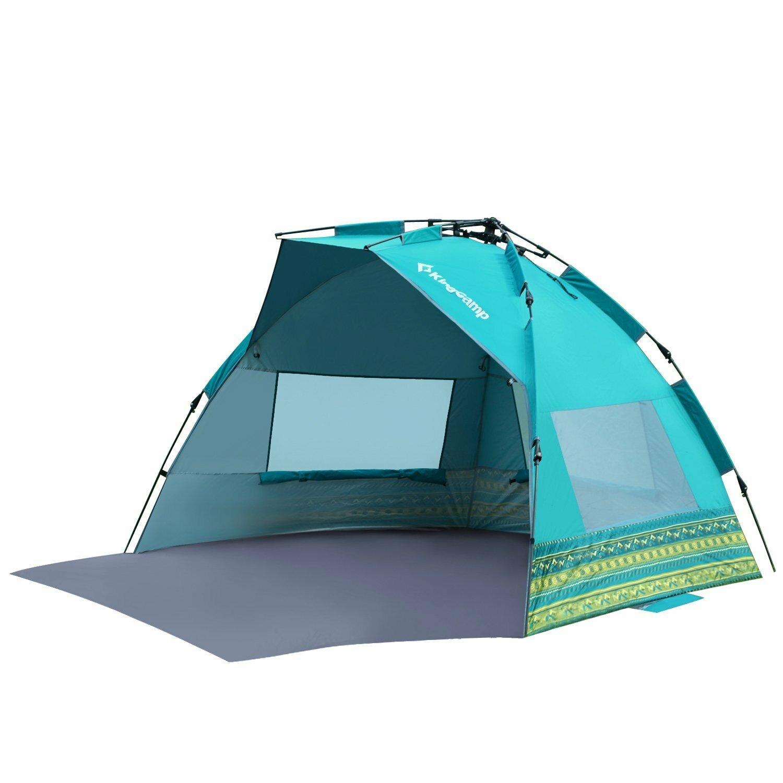 Kingc& Mississipi Fantasy Portable Quick Set Up 4 Person Anti-UV Beach Tent u0026 Reviews | Wayfair  sc 1 st  Wayfair & Kingcamp Mississipi Fantasy Portable Quick Set Up 4 Person Anti-UV ...