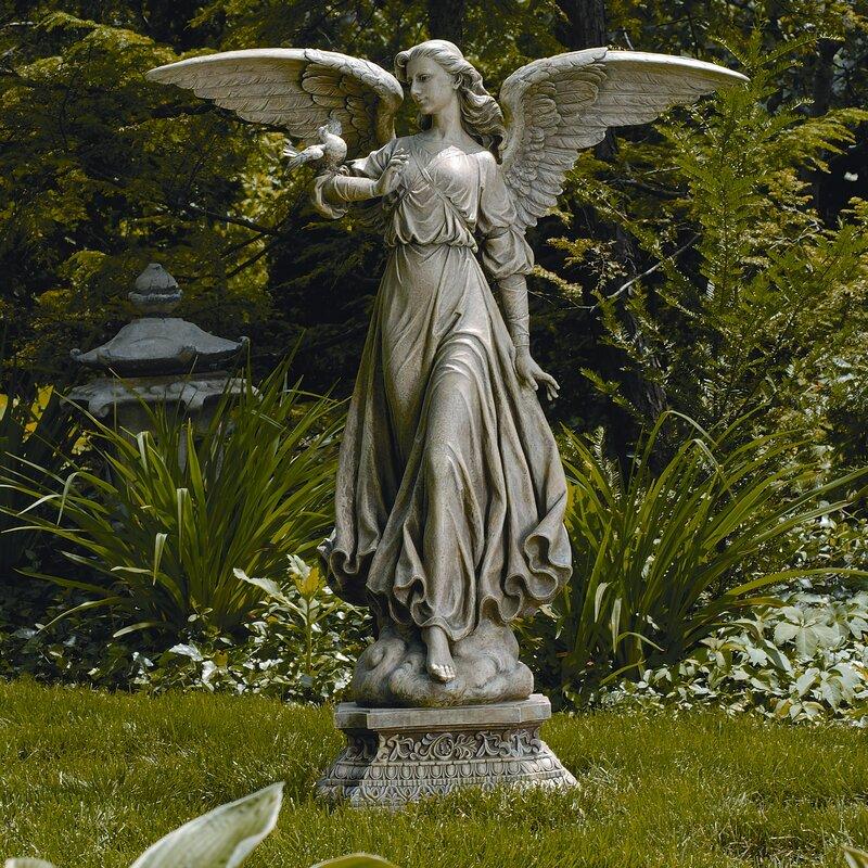 roman inc classic angel garden statue reviews wayfair
