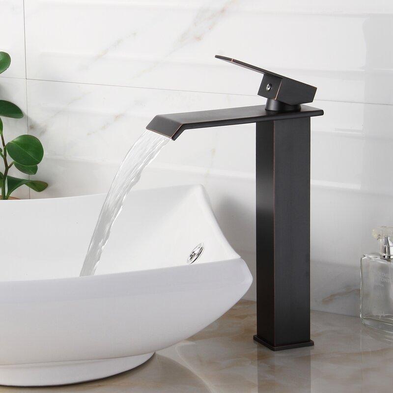 Bathroom Faucet Making Noise elite single handle bathroom waterfall faucet & reviews | wayfair