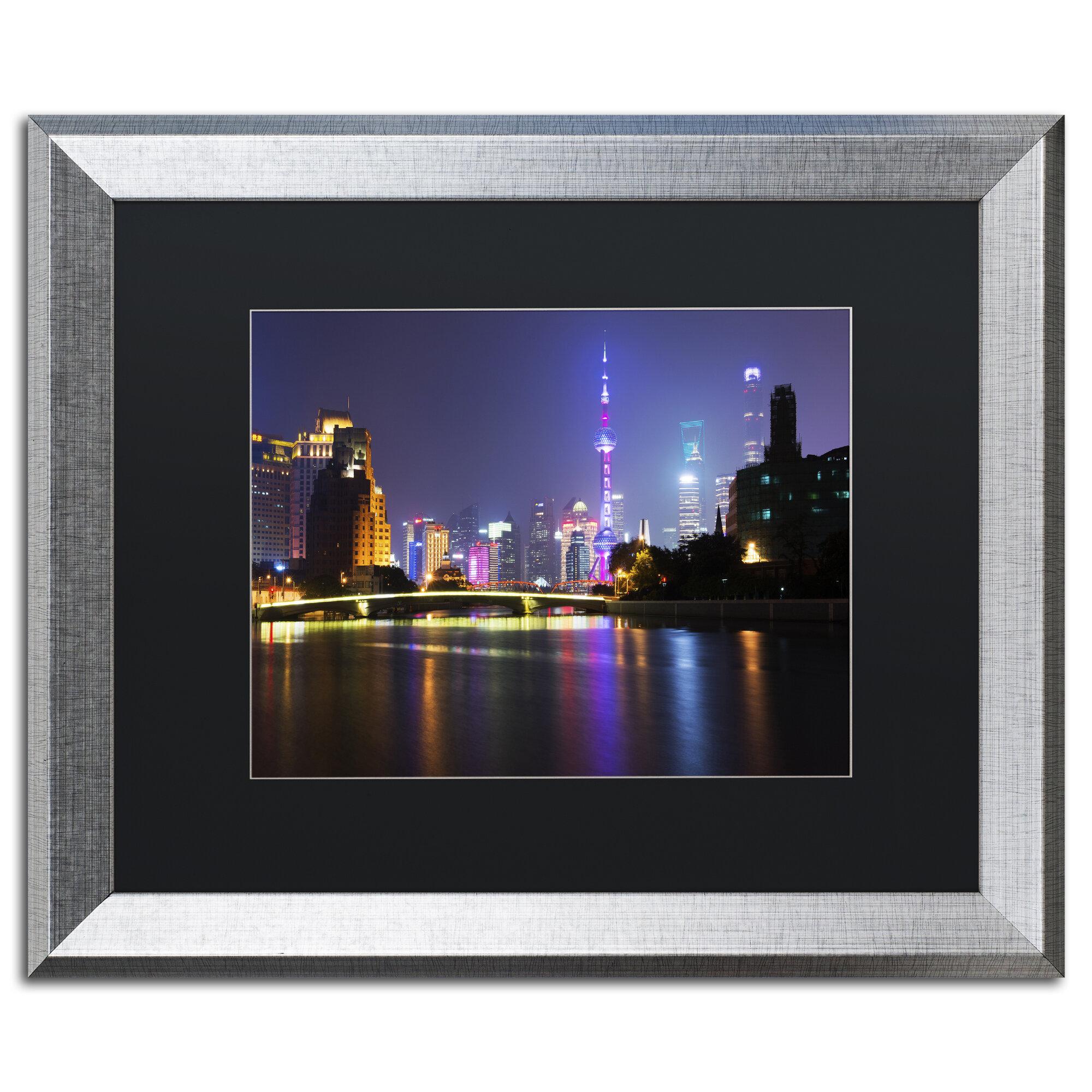 Trademark Art Night City By Philippe Hugonnard Framed Photographic Print Wayfair