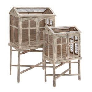 Decorative 2 Piece Bird Cage Set