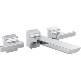 Deals Pivotal Double Handle Wall Mounted Tub only Faucet Trim By Delta