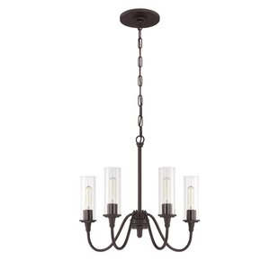 Reviews Eunice 4-Light Shaded Chandelier By Charlton Home