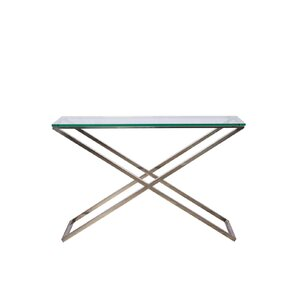 Pancoast Glass Console Table by Orren Ellis