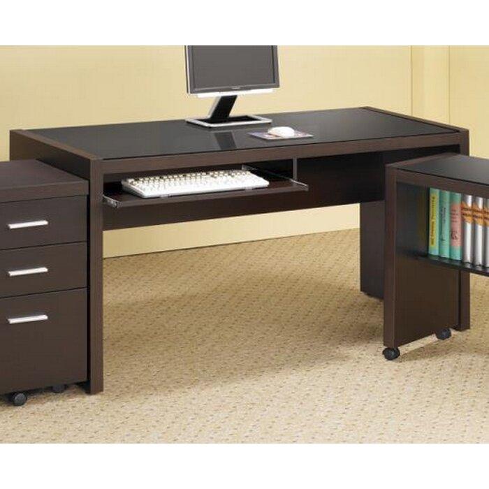 Lafleur Computer Desk Mobile Return And File Storage Cabinet Set