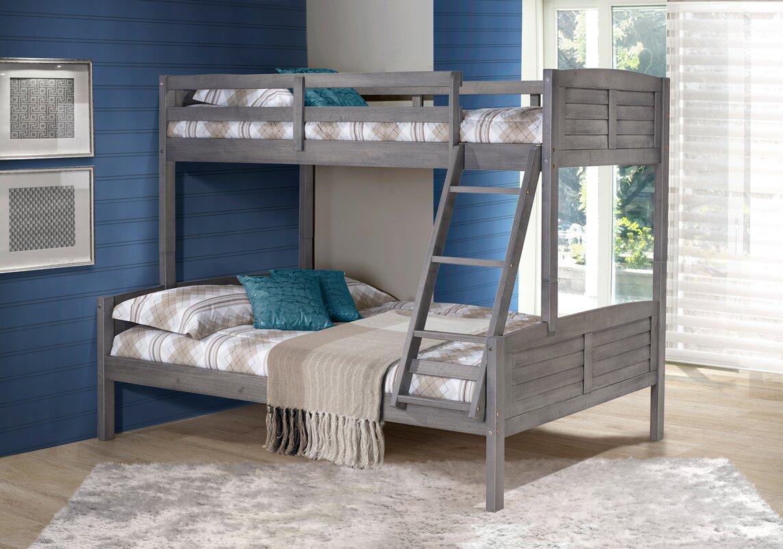 Evan Twin over Full Bunk Bed. Harriet Bee Evan Twin over Full Bunk Bed   Reviews   Wayfair