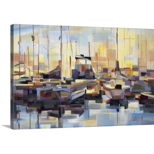 'Boats' by Brooke Borcherding Painting Print on Wrapped Canvas by Great Big Canvas