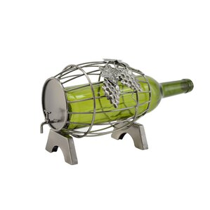 Barrel 1 Bottle Tabletop Wine Rack by Three Star Im/Ex Inc.