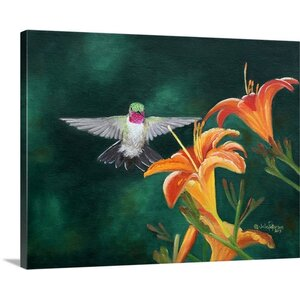 'Daylilies' by Julie Peterson Painting Print on Wrapped Canvas by Great Big Canvas