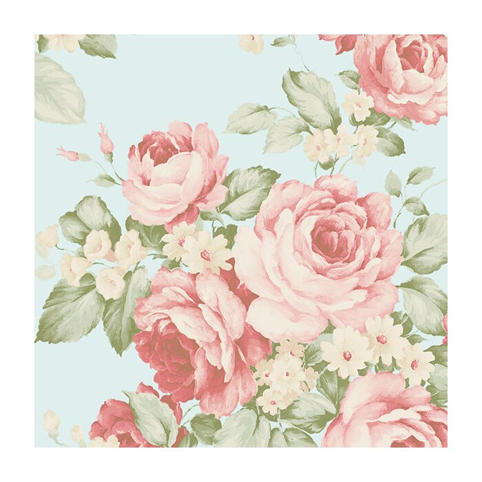Abby Rose Iii 32 7 X 20 5 Grand Floral Wallpaper Roll