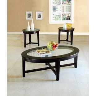 Kenmore 3 Piece Coffee Table Set Red Barrel Studio
