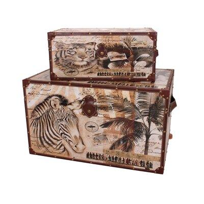 Delicieux 2 Piece Animal Kingdom Storage Trunk Set