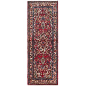 Superior One Of A Kind Roth Hand Knotted Runner Red Area Rug