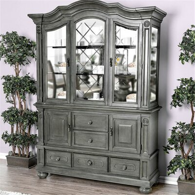 """Canora Grey Pagedale 61"""" Wide 5 Drawer Hutch and Buffet  Color: Silver"""