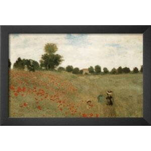 'Poppies' by Claude Monet Framed Painting Print by Buy Art For Less