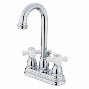 Reviews Centerset Bathroom Faucet with Double Porcelain Cross Handles ByElements of Design