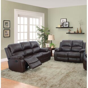 Hartranft 2 Piece Faux Leather Reclining Living Room Set by Red Barrel Studio®