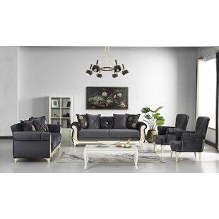 Rolfe 4 Piece Sleeper Living Room Set by Rosdorf Park