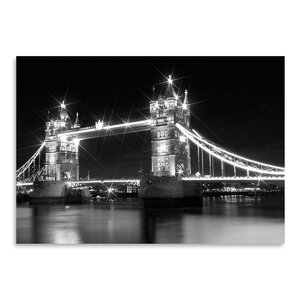 London Tower Bridge Monochrome Photographic Print by East Urban Home