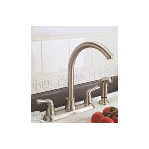 Premier Faucet Double Handle Standard Kitchen Faucet with Side Spray