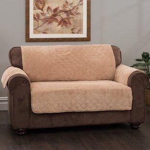 Plush Stripe Box Cushion Sofa Slipcover by Innovative Textile Solutions