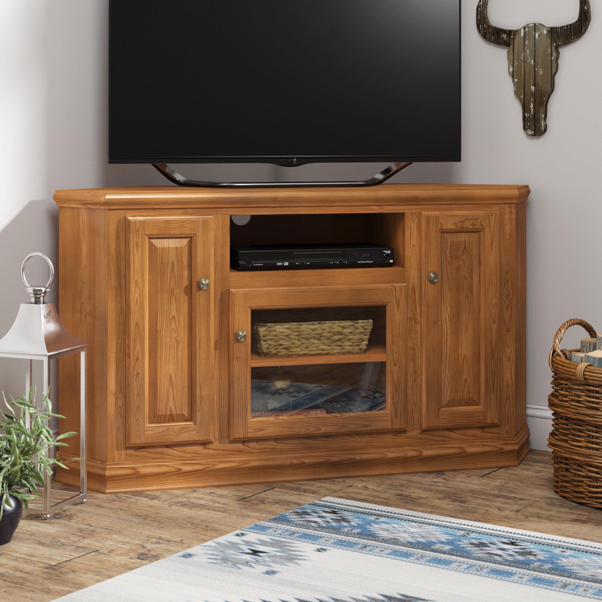 Meuble Tv Pour Coin meuble télé de coin en bois massif pour téléviseur de 65 po ou moins  lapierre