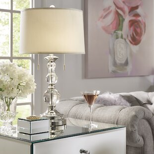 Crystal table lamps youll love wayfair agda 265 table lamp aloadofball Image collections