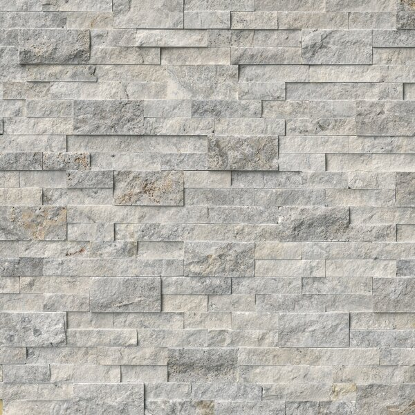 Silver Travertine Tile Wayfair