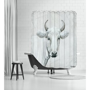 January Cow I Shower Curtain