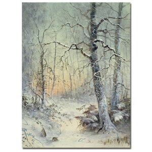 Winter Breakfast by Joseph Farquharson Painting Print on Wrapped Canvas by Trademark Fine Art