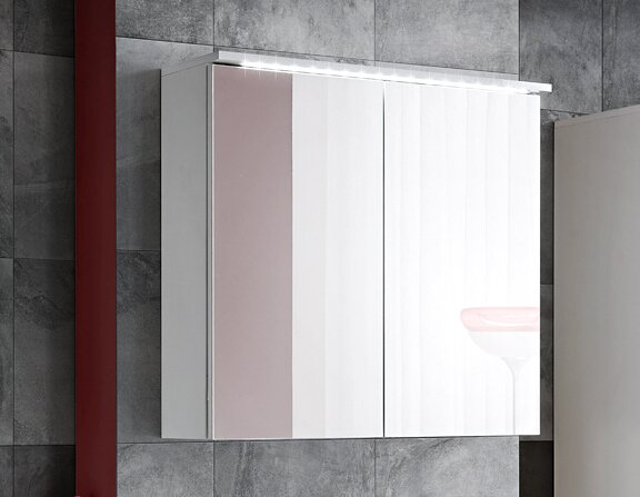 Active 80cm X 75cm Surface Mount Mirror Cabinet With Lighting