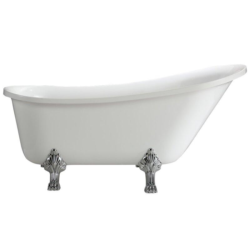 "Jacqueline 70"" x 30"" Soaking Bathtub"