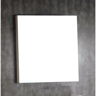 Inexpensive Wood Framed Bathroom Wall Mirror By Bellaterra Home