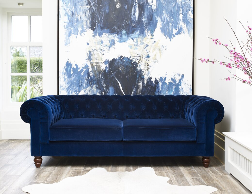 Chesterfield Sofas hazelwood home deluxe 3 seater chesterfield sofa reviews wayfair
