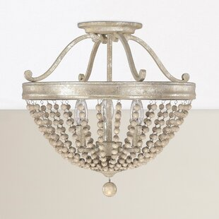 Great Price Edgard 3-Light Semi-Flush Mount By Willa Arlo Interiors